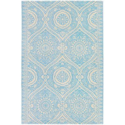 Cristina Hand-Tufted Blue/Ivory Area Rug