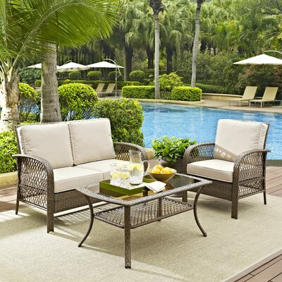 Niceville 3 Piece Deep Seating Group with Cushion