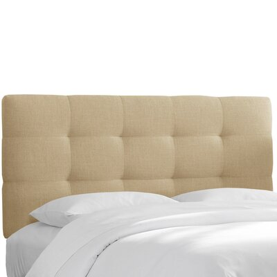 Claudia Upholstered Panel Headboard Size: Queen