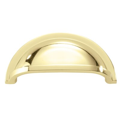 "Williamsburg 3"" Center Cup/Bin Pull Finish: Polished Brass P3055-PB"
