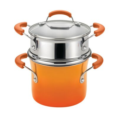 3-Qt Nonstick Steamer in Orange by Rachael Ray 14481