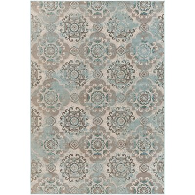 Raquel Machine Woven Teal/Silver/Gray Area Rug Rug Size: Rectangle 22 x 4