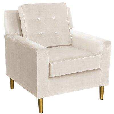 Calhern Arm Chair Color: White