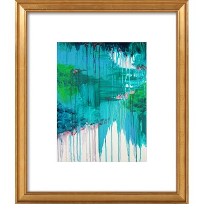 Blue Monsoon Framed Giclee Print, Artfully Walls Size: 14 H x 12 W