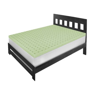 Classic Ventilated Memory Foam Mattress Topper Size: Twin