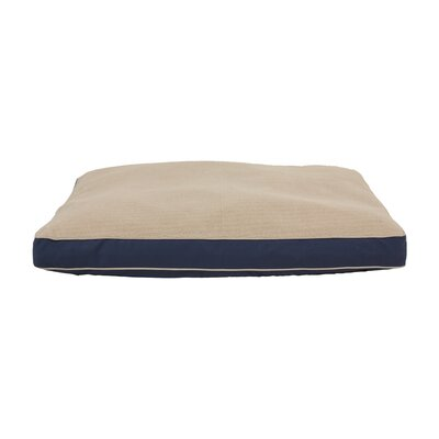 Four Season Dog Pillow with Cashmere Berber Top Size: Large (42 L x 30 W), Color: Blue