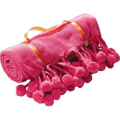 Corin Cotton Throw Color: Coral