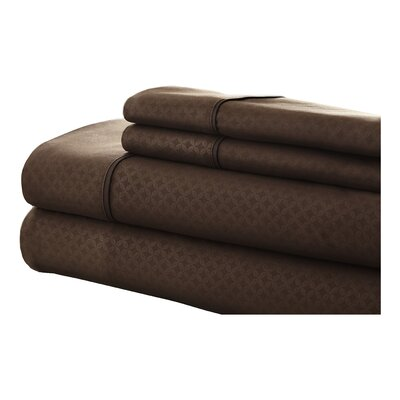 SoHo 4 Piece Sheet Set Size: Full, Color: Chocolate
