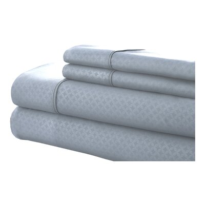 SoHo 4 Piece Sheet Set Size: King, Color: Light Blue