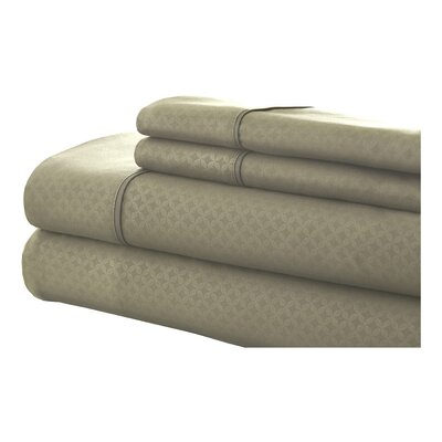 SoHo 4 Piece Sheet Set Size: King, Color: Sage