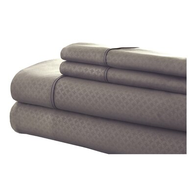 SoHo 4 Piece Sheet Set Size: King, Color: Taupe