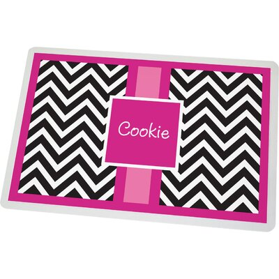 Personalized Chevron Pet Mat