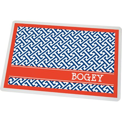 Personalized Greek Key Pet Mat