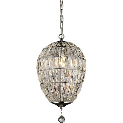 Vista 1-Light Crystal Pendant