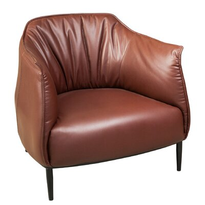 Roosevelt Barrel Chair Upholstery: Vicenza Brown