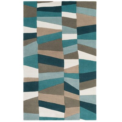 Carlotta Dried Oregano/Sea Blue Area Rug Rug Size: 2 x 3