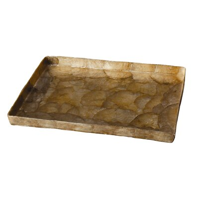 Capiz Rectangular Tray Color: Smoke Gold