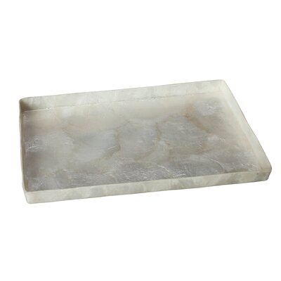 Capiz Rectangular Tray Color: Natural White