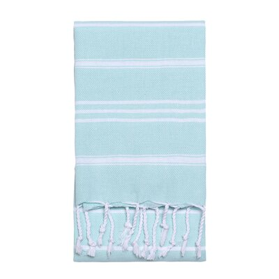 Stripe Hand Towel Color: Aqua