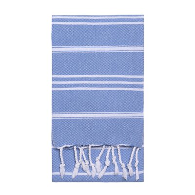 Stripe Hand Towel Color: Blue