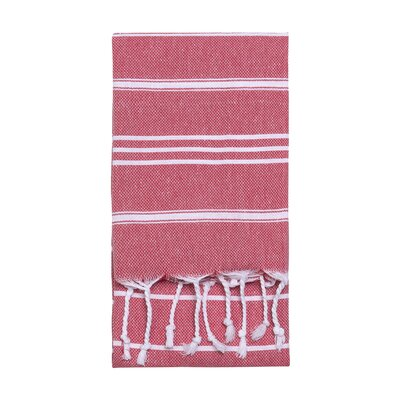 Stripe Hand Towel Color: Red
