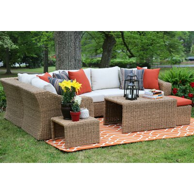Arizona 4 Piece Sunbrella Sectional Set With Cushions