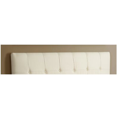 Dawn Upholstered Panel Headboard Upholstery: Ivory, Size: Full