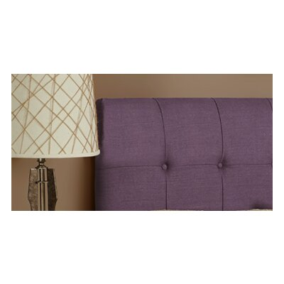 Dawn Upholstered Panel Headboard Size: Queen, Upholstery: Iris Purple