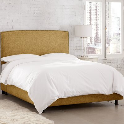 Bridgette Linen Upholstered Panel Bed Size: California King
