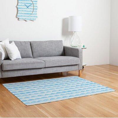 Cori Dantini Blue Scallops Area Rug Rug Size: 2' x 3'