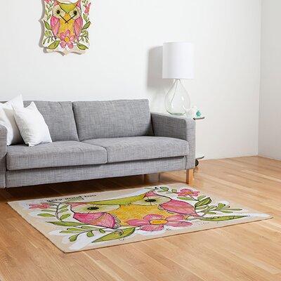 Cori Dantini Very Good Green/Pink Area Rug Rug Size: 2' x 3'