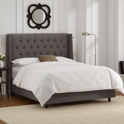 Raleigh Tufted Linen Upholstered Panel Bed Size: California King