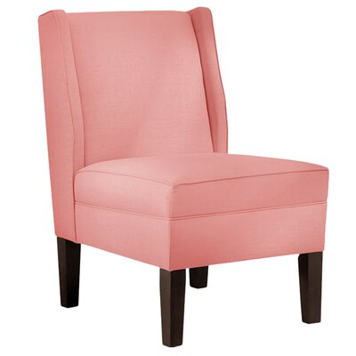 Ella Linen Slipper Chair Color: Petal