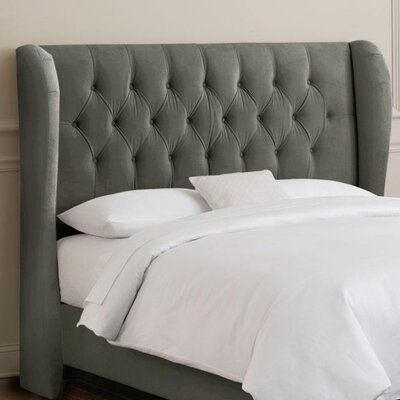 Sainte-Chapelle Tufted Velvet Upholstered Headboard Size: King