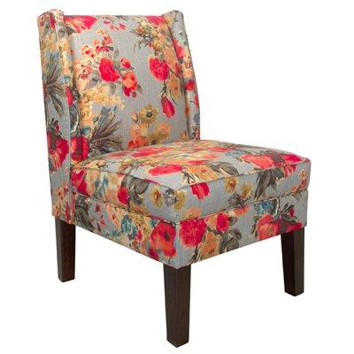 Wingback Chair Upholstery: Garden Odyssey Fog