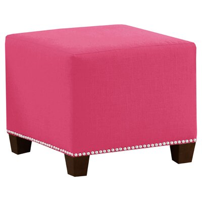 Frieda Cotton Duck Ottoman Color: French Pink