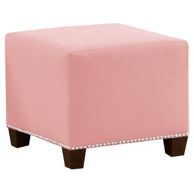 Frieda Cotton Duck Ottoman Color: Light Pink