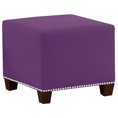 Frieda Cotton Duck Ottoman Color: Purple