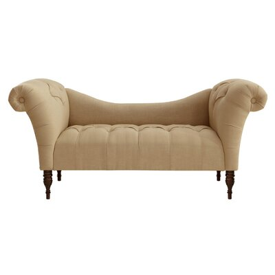 Jacqueline Tufted Settee Upholstery: Sandstone