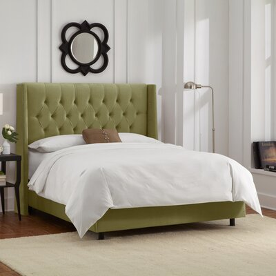 Raleigh Tufted Microsuede Upholstered Panel Bed Size: King