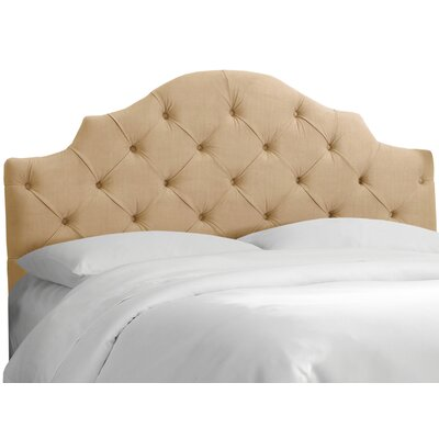 Karissa Tufted Velvet Upholstered Headboard Size: Full