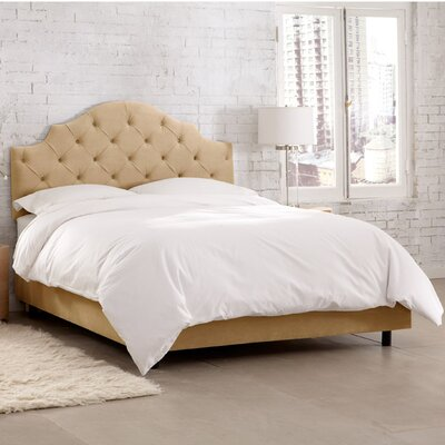 Viola Velvet Upholstered Panel Bed Size: Twin, Color: Buckwheat