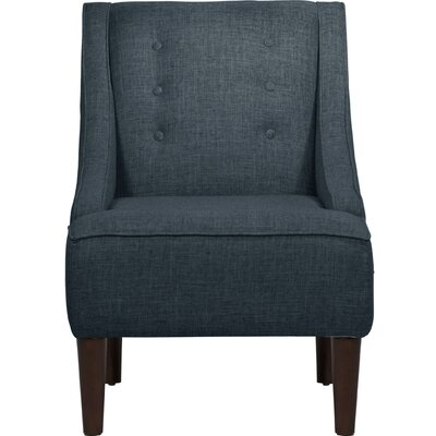 Zachary Tufted Linen Arm Chair