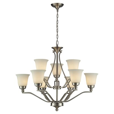 Tompkins 9-Light Candle-Style Chandelier Bulb Type: Incandescent