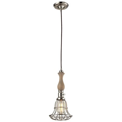 Crowther 1-Light Mini Pendant Base Color: Polished Nickel