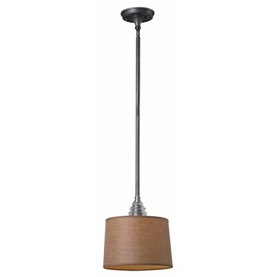 Mathews 1-Light Drum Pendant Base Finish: Weathered Zinc, Bulb Type: LED
