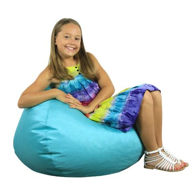 Fun Factory Bean Bag Chair Upholstery: Turquoise