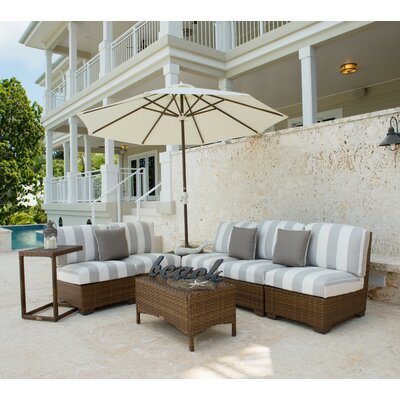 Panama Jack Patio 8 Piece Sectional Seating Group