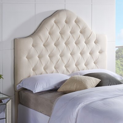 Floyd Upholstered Panel Headboard Size: Full / Queen, Upholstery: Linen