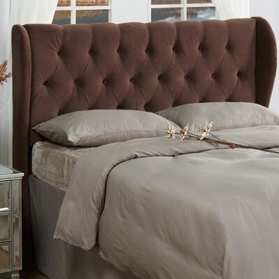 Yorkshire Upholstered Wingback Headboard Size: Full / Queen, Color: Chocolate